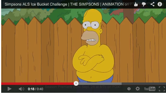 VIDEO: Homero Simpson se une al #IceBucketChallenge (17:46 h)