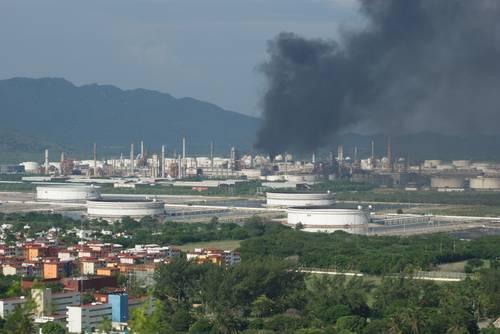 Siniestro en la refinería de Salina Cruz (16:33 h)