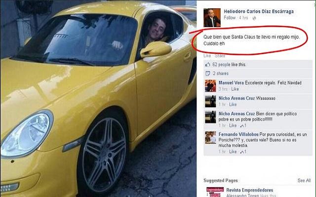 Político priista oaxaqueño regala Porsche a su hijo (21:26 h)