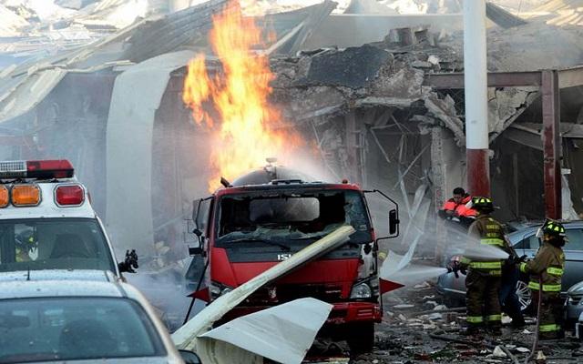 Regresa bebé herido en explosión en Cuajimalpa (19:59 h)