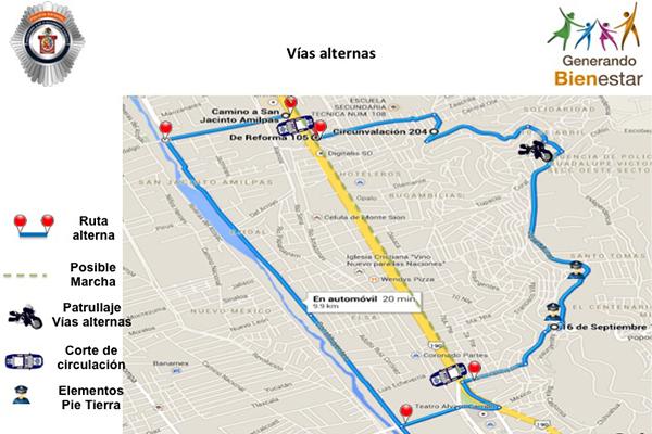 Implementará SSP operativo vial por movilizaciones de este lunes en Oaxaca (14:45 h)