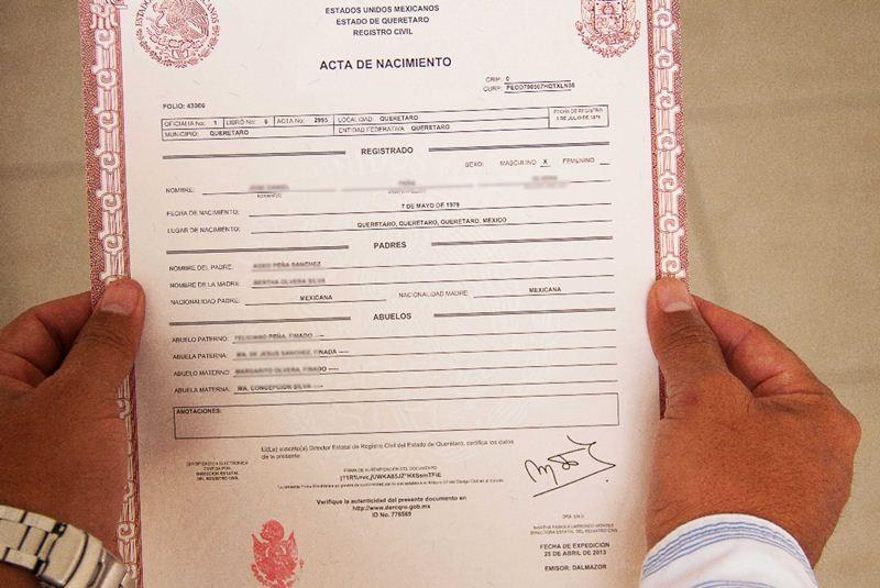 Contemporáneo Certificado De Nacimiento Registro Civil De La Florida ...