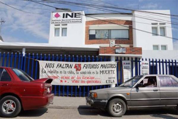 Se prepara INE en Oaxaca ante boicot a elecciones por parte de la CNTE (13:43 h)