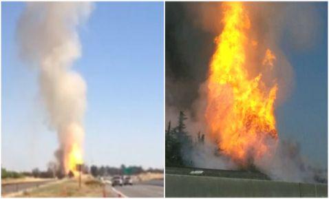 Explosión de gasoducto deja 13 lesionados en California (13:10 h)