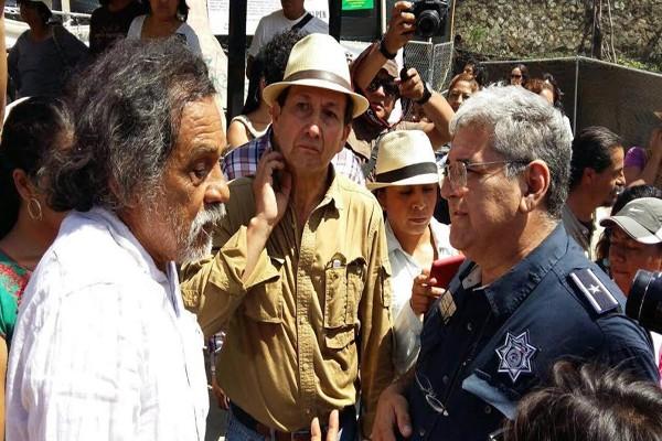 Ayuntamiento de Oaxaca acató medidas cautelares de DDHPO en protesta del Fortín (10:00 h)