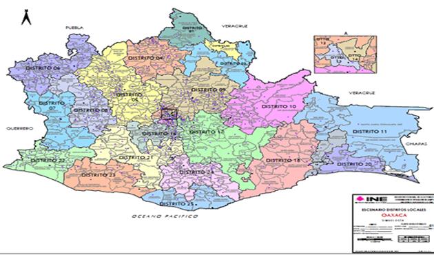 Distrito 04 de Oaxaca quedó compuesto por 41 municipios (13:00 h)