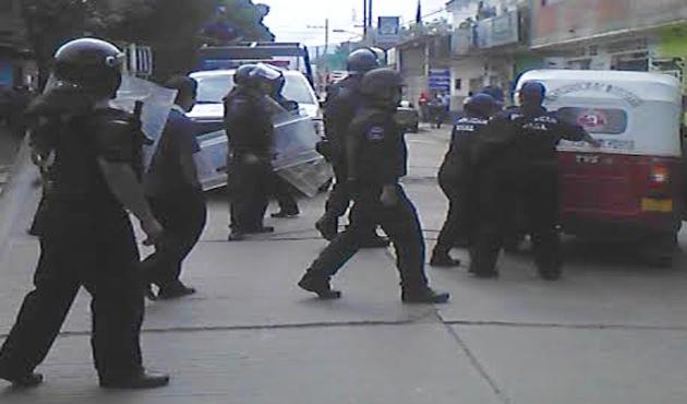 Despliegan en Oaxaca fuerte operativo contra mototaxis (11:51 h)