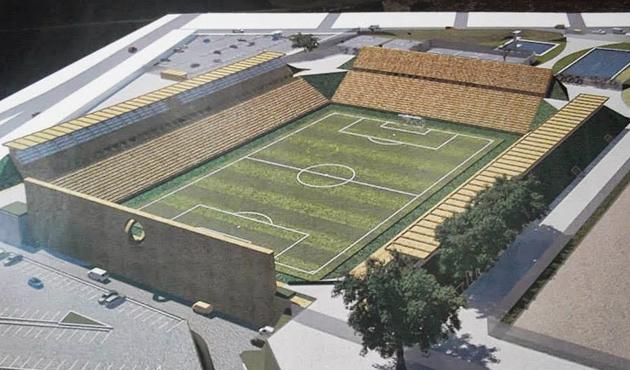Por adeudo, materialistas paran obras en el estadio de Alebrijes  (11:55 h)