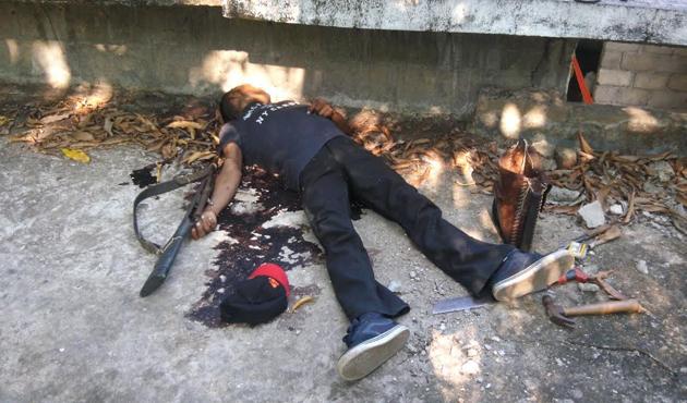 Hallan muerto a hombre con disparo en la cabeza en azotea de Tapanatepec (15:55 h)