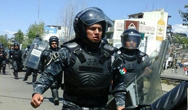 Implementa Policía Federal operativo en la Central de Abasto de Oaxaca (13:40 h)