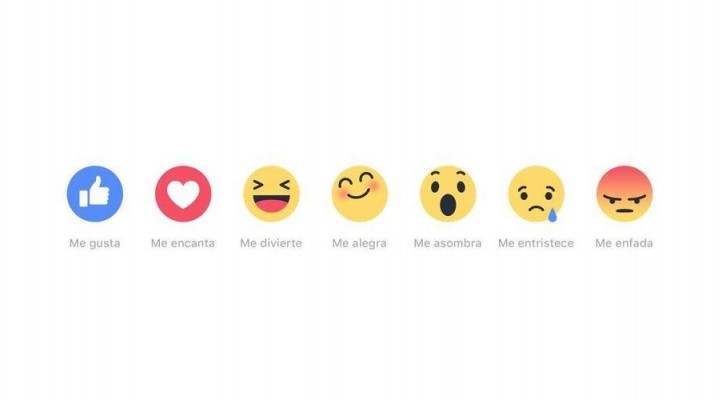 """Facebook crea """"Reactions"""" para expresar emociones más allá del """"me gusta"""" (18:57 h)"""