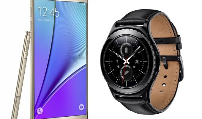 Llegan a México Galaxy Note 5 y Gear S2 de Samsung (20:50 h)